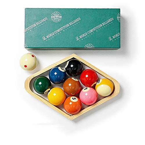 YRU Bolas de Billar, Resina Manchas y Rayas Juego de Bolas de Mesa de Billar 2 1/4 Pulgadas Conjunto de Bolas - 10 Bolas