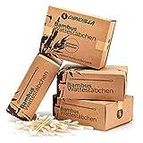 Chinchilla Lot de 4 paquets de cotons-tiges en bambou (800 pièces) 100% biodégradables, compostables, végans et de fabrication écologiquement durable