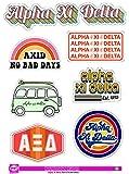 Alpha Xi Delta - Sticker Sheet - Retro Theme