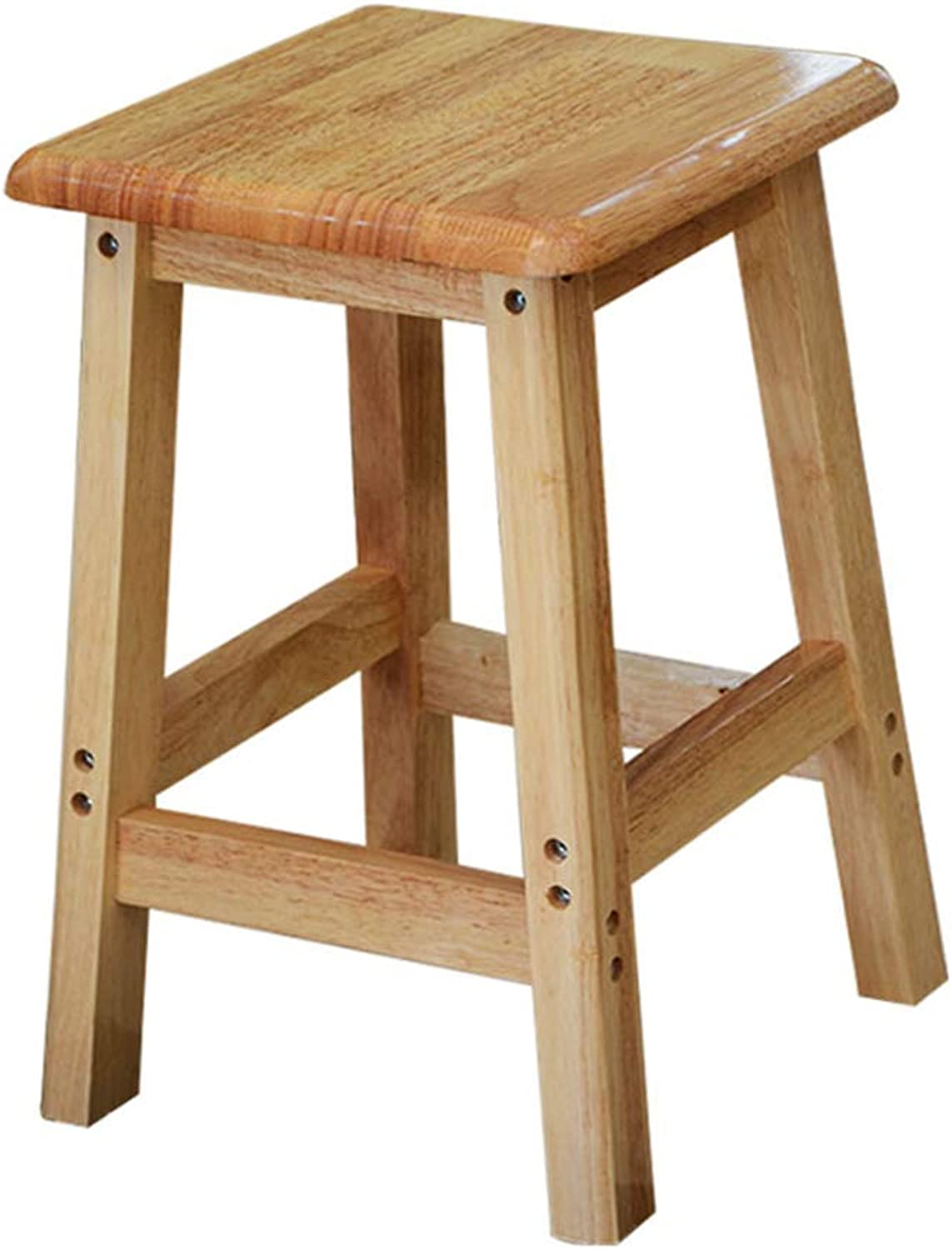 ZHAOYONGLI Square Stool Home Solid Wood Restaurant Square Stool Student High Bench Square Table Coffee Table Stool Wood High Stool Creative Solid Durable Long Lasting (Size   45CM)