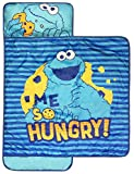 Sesame Street Me So Hungry Nap Mat - Built-in Pillow and Blanket Featuring Cookie Monster - Super Soft Microfiber Kids'/Toddler/Children's Bedding, Ages 3-5 (Official Sesame Street Product)