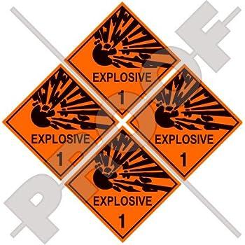 1.4//S  25x25cm Aufkleber Explosive Stoffe u Gegenstände mit Explosivstoff Ukl