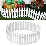 2 Pcs Jardín Valla Miniatura Cerca del árbol de Navidad valla de Piquete de Plástico Blanco árbol de Navidad Jardín Casero Decoración del Banquete de Boda valla de Jardín en Miniatura Valla de Césped