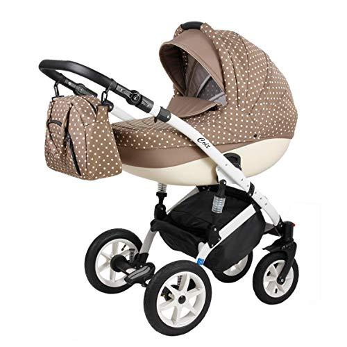 Kinderwagen Set alles in einem Colt by Lux4Kids Capuccino 05 3in1 mit Babyschale