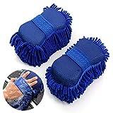 Chenille-Waschhandschuh, Mikrofaser-Schwamm, Autowaschhandschuh für Auto- und Haushaltsreinigung,...