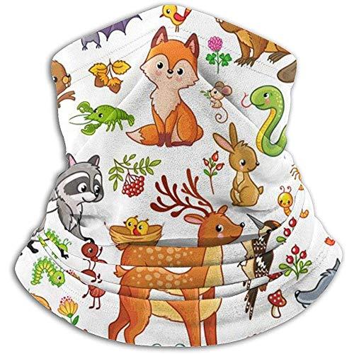 Hey Judey Animales Pájaros Estilo Infantil Fauna De Dibujos Animados Fleece Neck Warmer Men - Windproof Neck Gaiter Mascarilla para Clima Frío - Face Scarfr