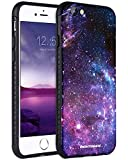 BENTOBEN iPhone 6S Case,iPhone 6 Case,iPhone 6S Space Case, Nebula Space Universe Print Slim 2 in 1 Hybrid Hard PC Flexible TPU Anti Slip Drop Proof Protective Case for iPhone 6/6S Purple Nebula