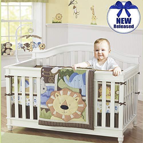 Brandream Bettwäsche-Set für Babybett, Elefantenfamilie Kollektion