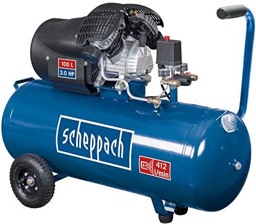 scheppach HC120DC Druckluft Kompressor I 10 bar I 100 Liter Kessel | 3PS - 2,2 kW | Doppelzylinder ölgeschmiert