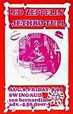 Led Zeppelin - Jethro Tull - 1969 - San Bernardino CA - Concert Poster