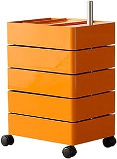 DXIUMZHP Tables roulantes Chariot De Rangement Utilitaire Amovible, Chariots De Cuisine en Plastique, Armoire De Rangement...