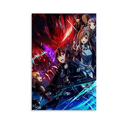 47 Sword Art Online Poster, dekoratives Gemälde, Leinwand, Wandkunst, Wohnzimmer, Poster, Schlafzimmer, Gemälde, 40 x 60 cm