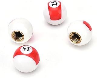 Quatre pi/èces Boule de Billard//Lucky 8/Ball pour Voiture//v/élo//Moto de valves ARH Auto Accessories Bouchons de Valve