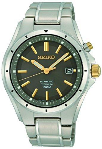 Seiko Herren Analog Kinetik Uhr mit Edelstahl Armband SKA765P1