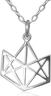 ELEMENTA Dije Brillante para mujer y hombre, elaborado en PLATA ley 925 Tamaño 2.5 X 3 cm con cadena de 45 cm Pulido brill...