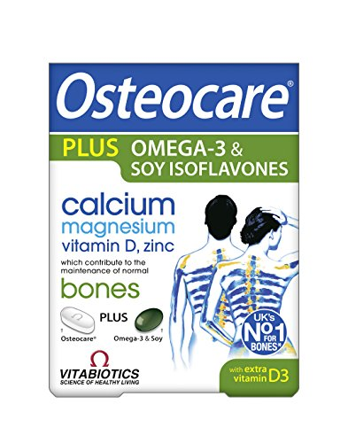 Vitabiotics Osteocare Plus Omega-3 and Soy Isoflavones - 84 Tablets/Capsules