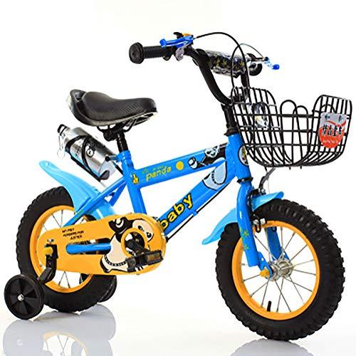 Sharesun BMX-fiets voor kinderen, 45,7 cm (18 inch), frame van koolstofstaal met trainingsbanden, kinderfiets voor meisjes in de leeftijd van 5 tot 9 jaar