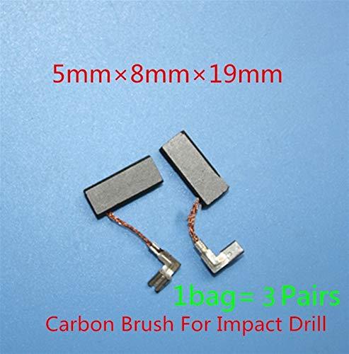 Alta calidad Reemplazo de 3 pares de cepillos de carbono for Bosch GSB20-2 GSB20 GSB20-2RE 1199VSR GSB20-2RCE GSB20-2RET GBH2-22E GBH2-22S GBH2-22RE para herramienta eléctrica (Color : As show)