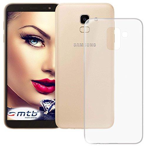 mtb more energy® Custodia Clear & Slim per Samsung Galaxy J6 2018 (SM-J600, 5.6'') - Trasparente - Flessibile - Sottile - TPU Silicone Case Cover