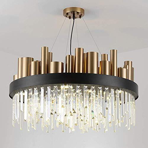 Wall Linterna Pared proyector del Oro cristalino Moderno llevó la Ronda Salón Comedor Estudio Dormitorio Sala de la lámpara de Techo Negro Oro 60x60x45cm yqaae