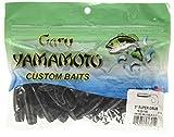 Yamamoto 18-20-150 Single Tail Grub 5', 20pk, Smoke with Large Black, one Size