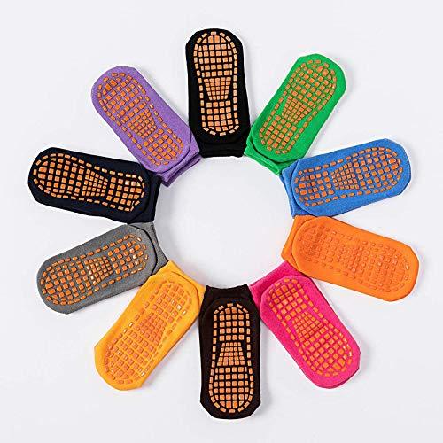 LiangWan Calcetines Antideslizantes para Hombres y Mujeres | Hospital Antideslizante, Barre, Pilates, Maternidad, Ballet,Multicolour-S
