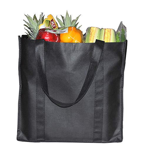 6 Pack Reusable Handle Grocery Tote Bags - Hold 44+ lbs (20 KG) - Extra Large & Durable Shopping Bags by ZMYBCPACK