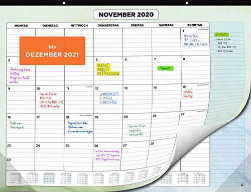 Wandkalender 2020 2021 von SmartPanda - Kalendar 2020-21 - Monatskalender für den Tisch Von Juli 2020 bis Dezember 2021 - Ein Monat zur Ansicht - 33 cm x 43 cm - auf Deutsch