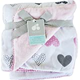 Baby Blanket Polka Dot Velboa Nursery Blanket Pink by Just Born