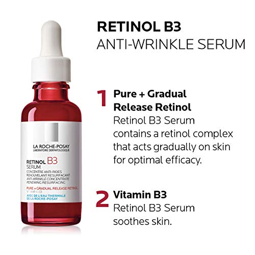 51Hjk8rzERL - La Roche-Posay Pure Retinol Face Serum with Vitamin B3. Anti Aging Face Serum for Lines, Wrinkles & Premature Sun Damage to Resurface & Hydrate. Suitable for Sensitive Skin, 1.0 Fl. Oz