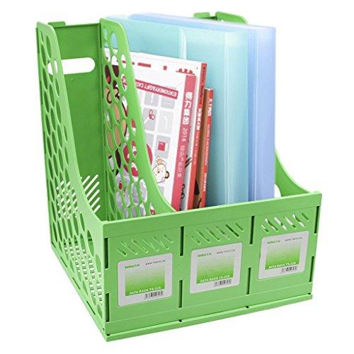 Stehsammler Plastik Stehordner Robust 3 Abschnitte Zeitschriftenhalter Zeitgemäßes Design Archivsammler für Büro und Zuhause