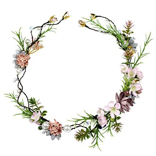 LYM Bandeau Fleurs Fleur Guirlande Plage Mariage Photographie Accessoires (Couleur : A)
