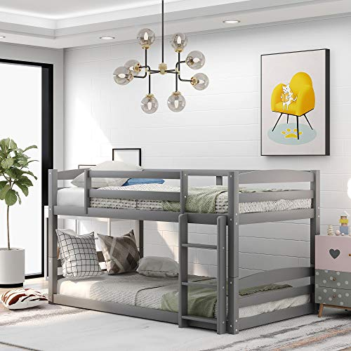 Twin-Over-Twin bunk Bed, Solid W...