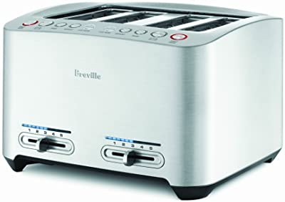 Breville BTA840XL Die-Cast 4-Slice Smart Toaster, Stainless Steel