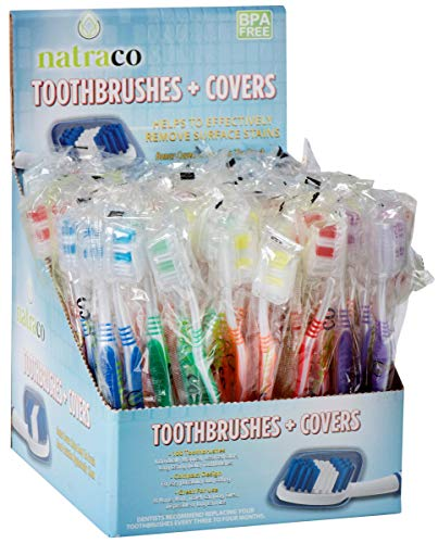 Bulk Toothbrush Pack With Covers   Premium Quality Individually Wrapped Colorful Tooth Brushes Are Perfect For Travel, Giveaways, Care Packages, Hotels   Standard Medium Soft Bristles   100 Count