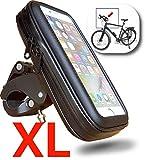 WESTIC FT-18XL Lenkertasche Fahrrad Wasserdicht Handyhalterung Fahrradtasche Handyhalter Handytasche Fahrradlenkertasche Rahmentasche mit Kabelführung für Smartphones unter 6,5 Zoll