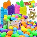 JOYIN 144 Stück Ostereier + 6 goldene Eier zum Befüllen für Ostern Partyzubehör, Osterkorb Füllstoffe, Klassenzimmer Anreize, Kinderspielzeug und Überraschungsgeschenk