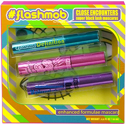 Markwins, flashmob, Set di mascara Super black, 2 confezioni da 3 pz.