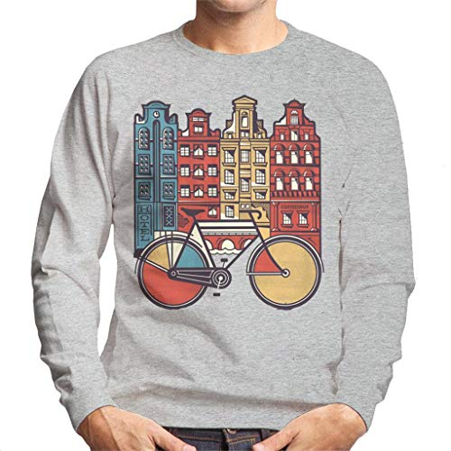 Cloud City 7 Amsterdam Retro Bike Men's Sweatshirt