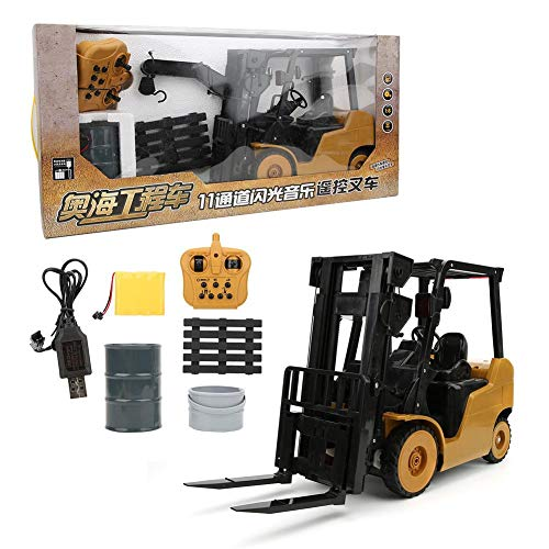 ZJchao 11 Channel Forklift Music Crane Car Kids Toy Remote Control Forklift, Kids Sand Toys Remote Control Cars Forklift Toy, for Girls Boys Adults Kids