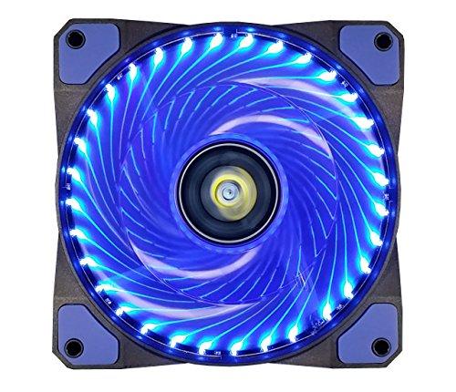 CONISY 120 mm Lüfter für Computergehäuse, sehr leise, LED, PC, Gaming, hoher Luftstrom, Lüfter (blau)