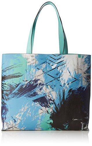 Calvin Klein Jeans Stacy Shopper, Bolsa de Medio Lado para Mujer, Azul...