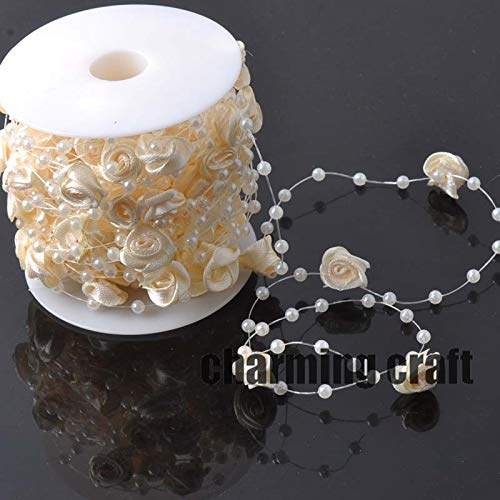 Angelschnur Silk Künstliche Perlen Blume Perlen Kette Garland Blumen DIY Hochzeit Dekoration 4 Meter CP0322