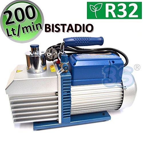 Vakuumpumpe 200 L/MIN 7.0 CFM Unterdruckpumpe 2 STUFIG Vacuum Pump KLIMA R32