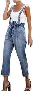 Auricularia para Mujer Auricula Jeans de Cintura Recta Easy Frenulum Strap Jeans