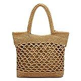 JOSEKO Bolso tejido de paja, bolso de hombro, bolso de red para mujer, bolso de paja tejido a mano, bolso de playa, bolso de rafia, bolso de mensajero, uso diario
