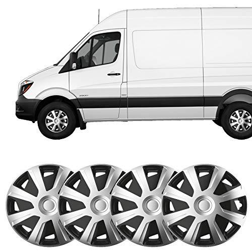 UKB4C 4x Silver 15 Inch Deep Dish Van Wheel Trims Hub Caps For Mercedes Citan