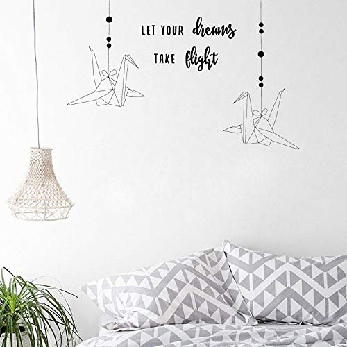 Laissez vos rêves prendre leur envol Stickers Crane al Baby Nursery Kids Children Bedroom Playroom L