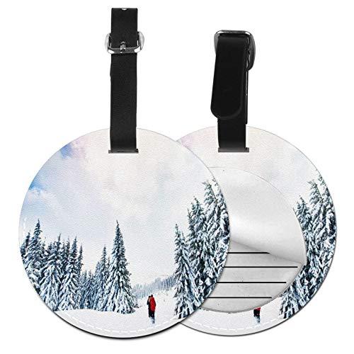 Etiquetas para Equipaje Bolso ID Tag Viaje Bolso De La Maleta Identifier Las Etiquetas Maletas Viaje Luggage ID Tag para Maletas Equipaje Esquí Mountain Sport SM