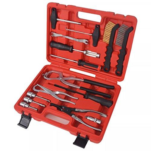 Xinglieu Kit d'outils 15 pièces pour Entretien et Assemblage Frein Facile à Utiliser, Transporter et fixez Accessoires pour véhicules boîte à Outils du véhicule